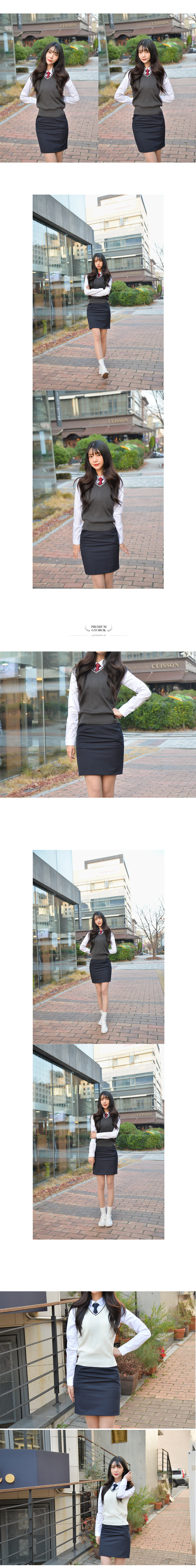 [허리조절] 스판 네이비 교복치마 교복 스커트 - 교복몰, 37,400원, 여성 스쿨룩, 하의