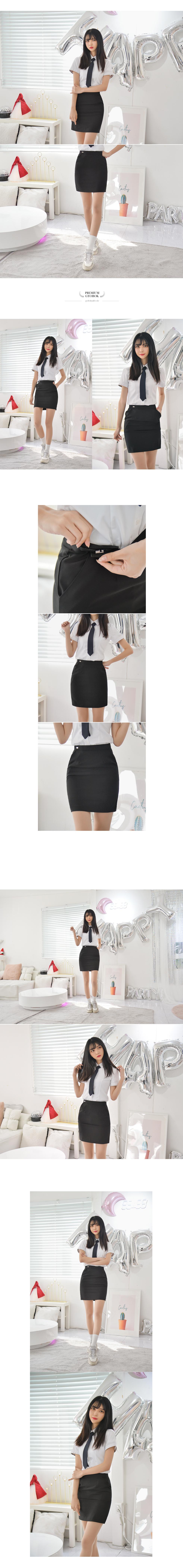 [하복][허리조절] 스판 블랙 교복치마 교복 스커트 - 교복몰, 37,400원, 여성 스쿨룩, 하의